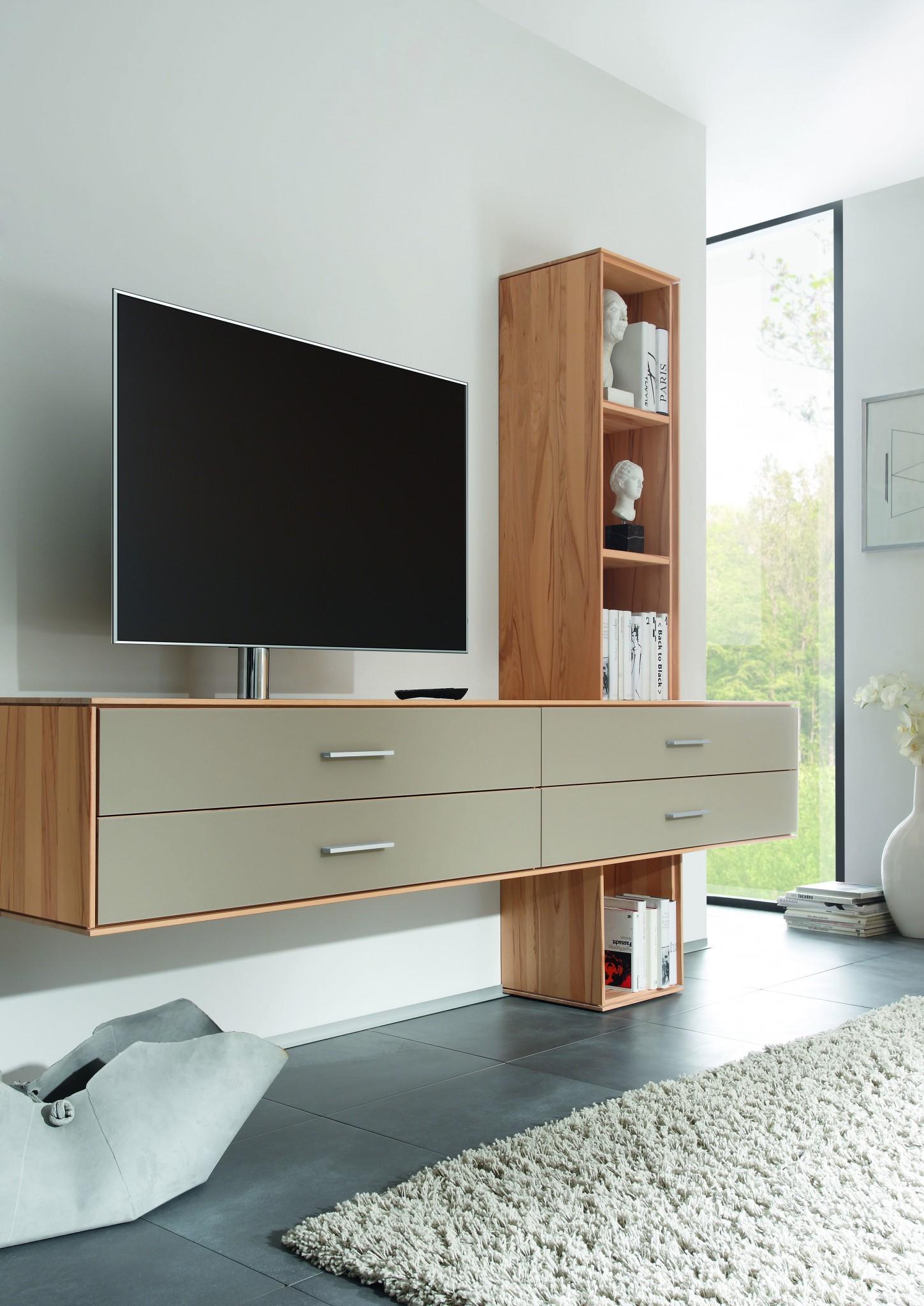 mira h ngekommode mit regal als tv standort m bel polt m belhaus. Black Bedroom Furniture Sets. Home Design Ideas