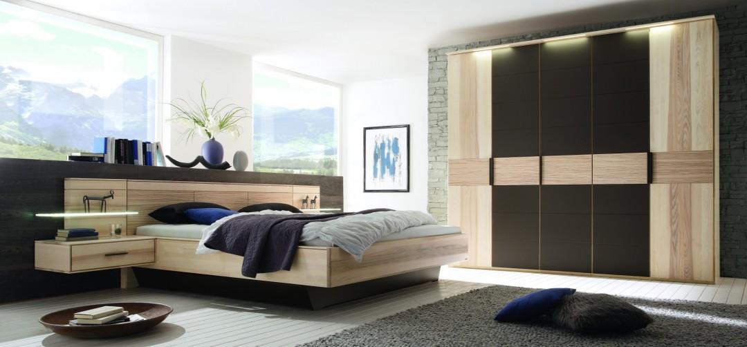 Schlafzimmer MIRA in Strukturesche massiv, € 4.680.- – Möbel Polt ...