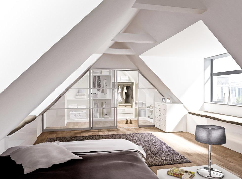 Raumteilersystem Begehbarer Kleiderschrank Dachgeschoss – Möbel Polt ...