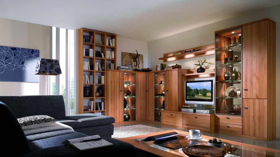 wohnwand cento in kernbuche teilmassiv m bel. Black Bedroom Furniture Sets. Home Design Ideas