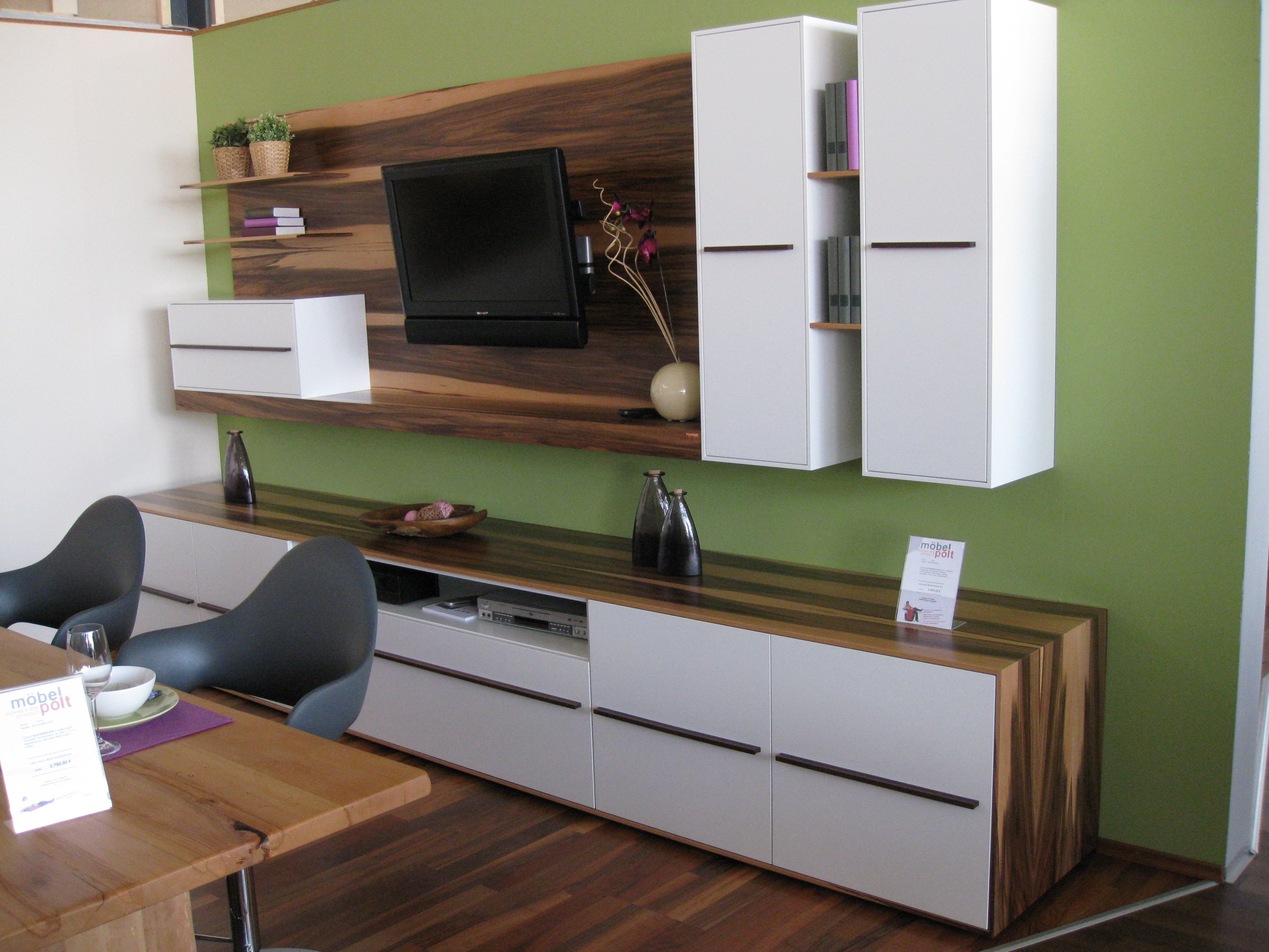 wohnwand erdenfeuer m bel polt m belhaus. Black Bedroom Furniture Sets. Home Design Ideas