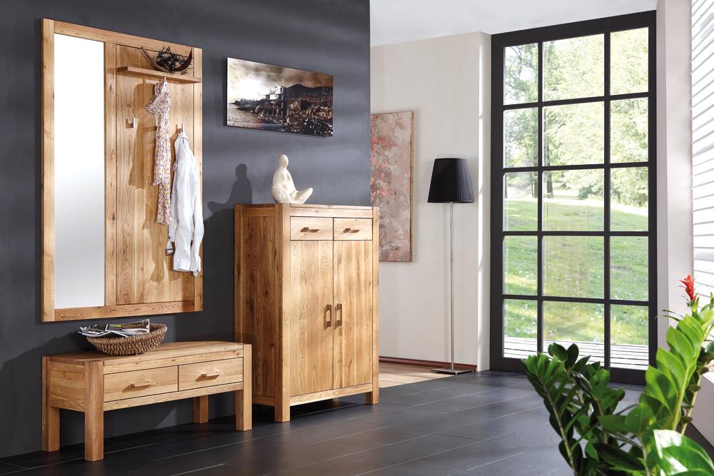 sitzbank casa in wildeiche massiv ge lt mit 2 schubladen 298 m bel polt m belhaus. Black Bedroom Furniture Sets. Home Design Ideas