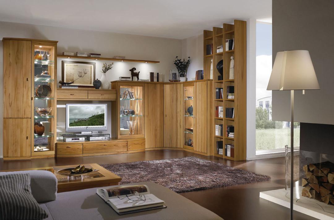 wohnwand ber eck opus in kernbuche teilmassiv ein wahres stauraumwunder m bel polt. Black Bedroom Furniture Sets. Home Design Ideas