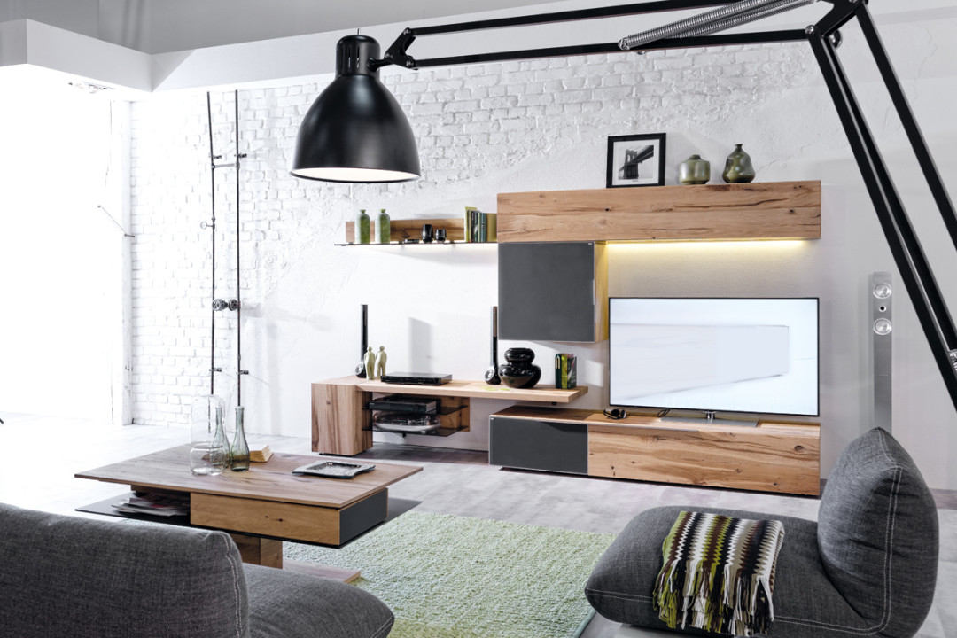 wohnwand v alpin in eiche altholz massiv ge lt. Black Bedroom Furniture Sets. Home Design Ideas