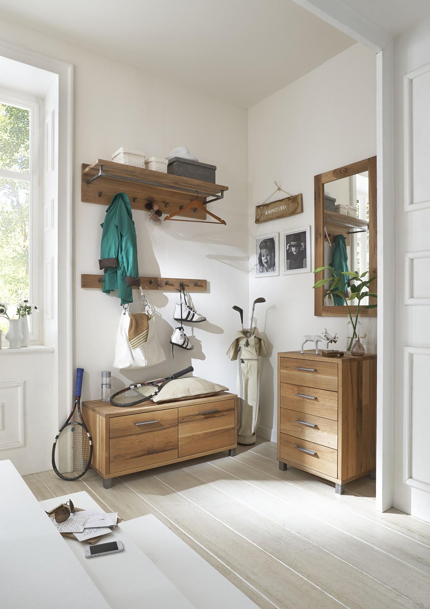 nette garderobenkombination la natura in balkeneiche massiv natur ge lt ber eck m bel polt. Black Bedroom Furniture Sets. Home Design Ideas
