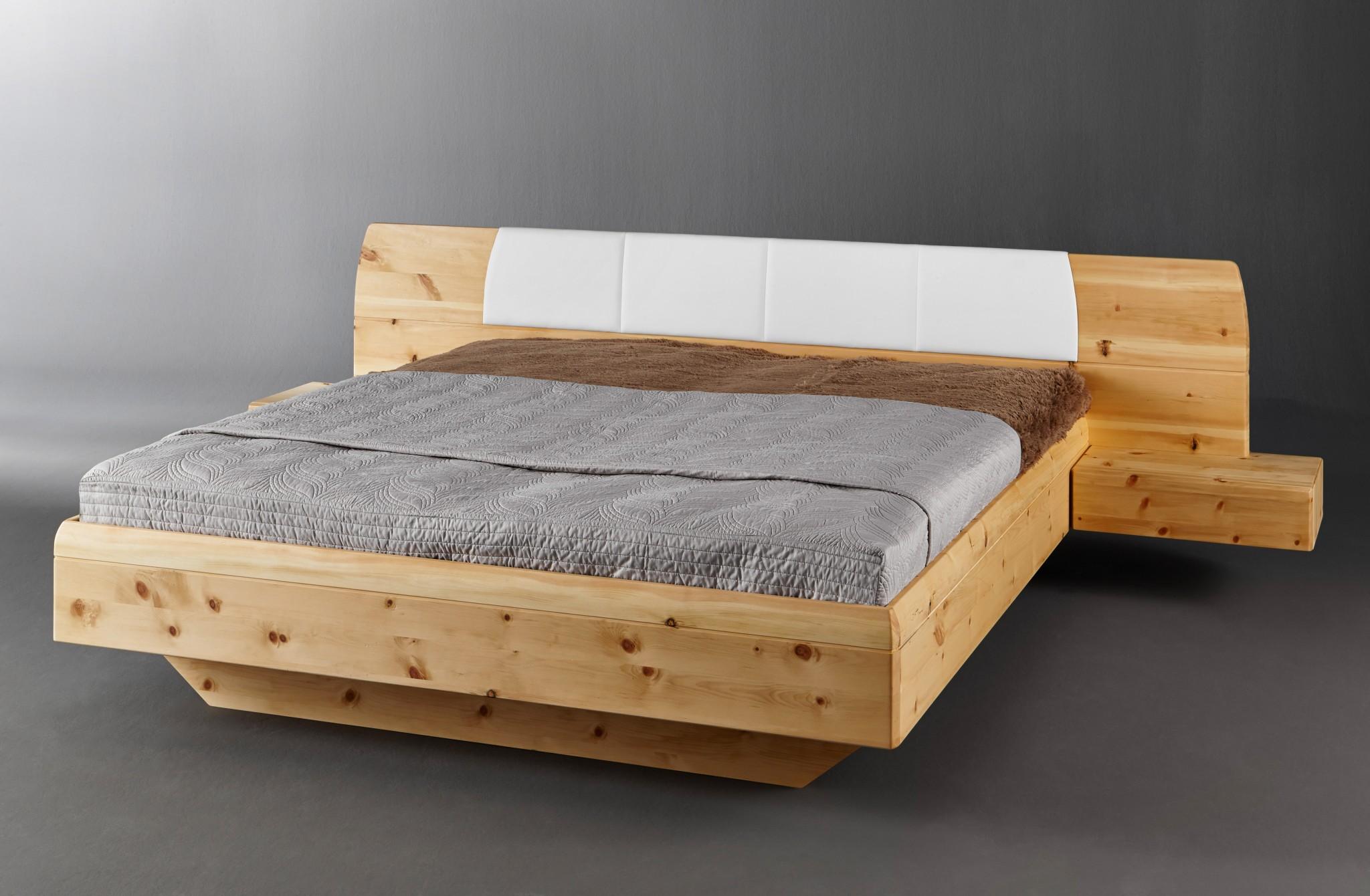 massivholz zirbenbett tares inkl 2 nachtk228stchen in