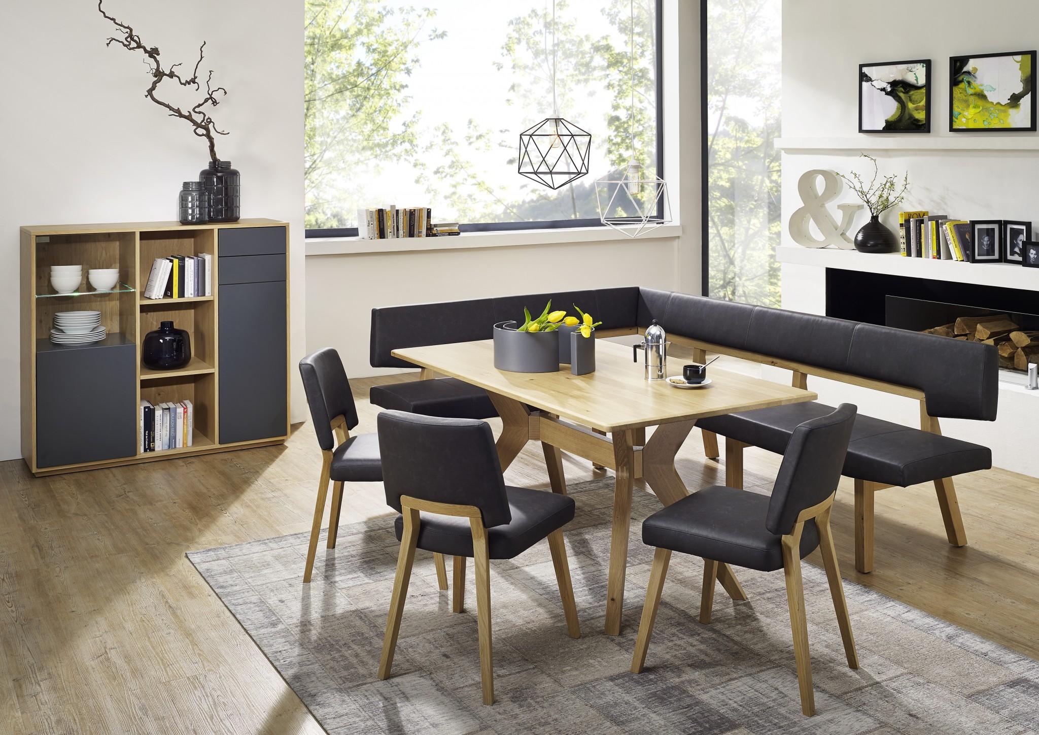 Tischgruppe TOPLINE 1560 davon die Einzelbank 180 cm lang € 1.290.- – Möbel Polt Möbelhaus