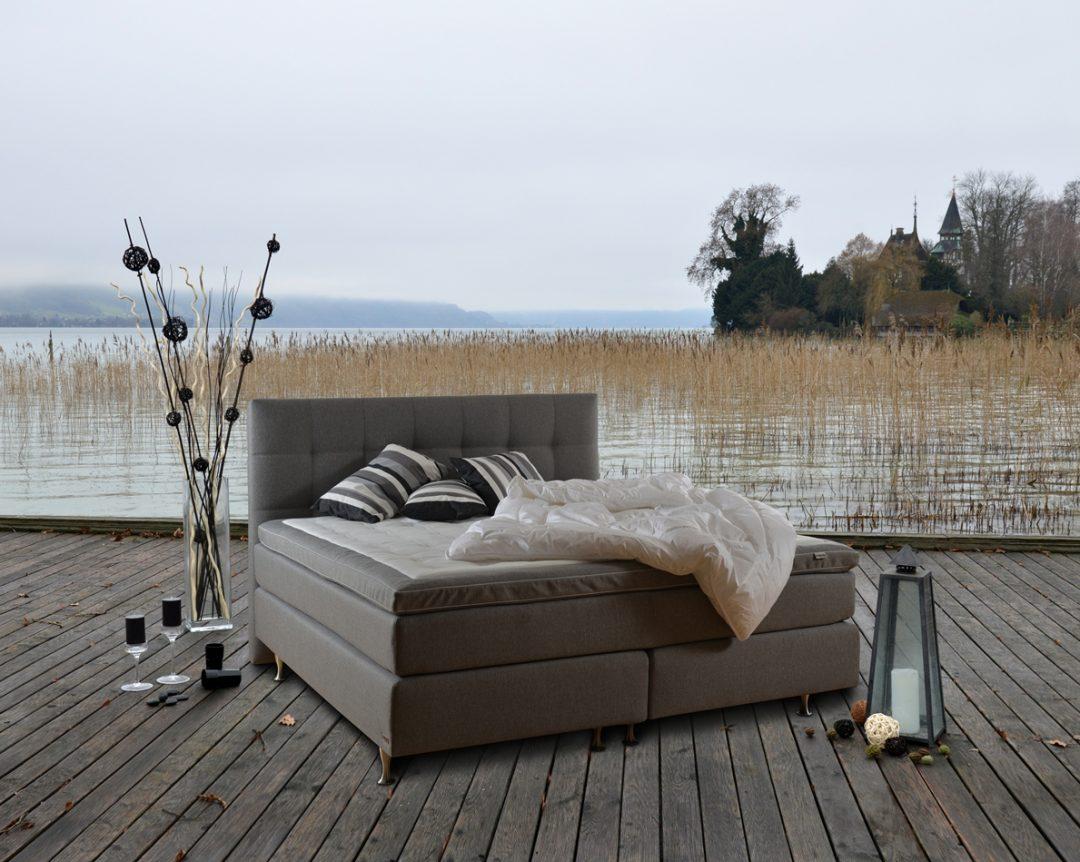 hochwertiges boxspring bett lilligreve mit geltex topper sofort verf gbar m bel. Black Bedroom Furniture Sets. Home Design Ideas