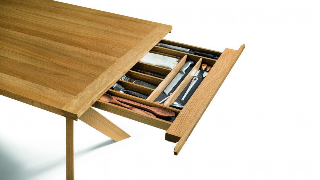 team 7 esstisch yps in eiche wildsortierung ge lt. Black Bedroom Furniture Sets. Home Design Ideas