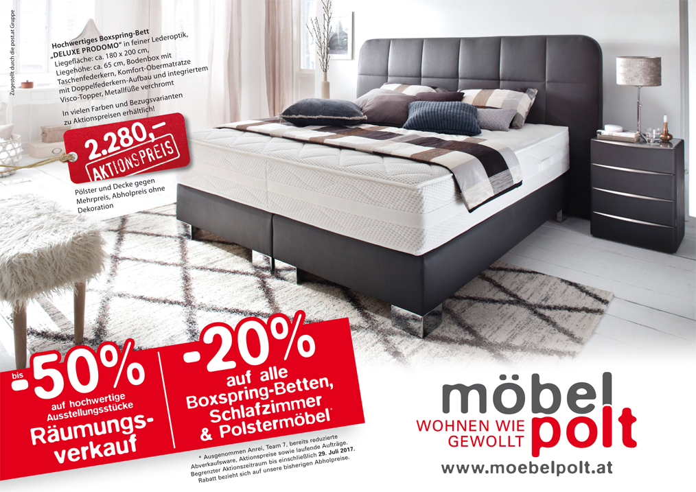 prospekt 20 auf alle boxspring betten schlafzimmer und polsterm bel m bel polt m belhaus. Black Bedroom Furniture Sets. Home Design Ideas