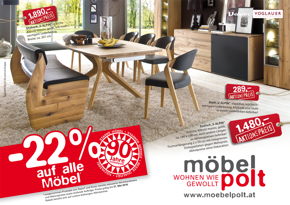 prospekt 90 jahre m bel polt 22 auf alle m bel m bel polt m belhaus. Black Bedroom Furniture Sets. Home Design Ideas