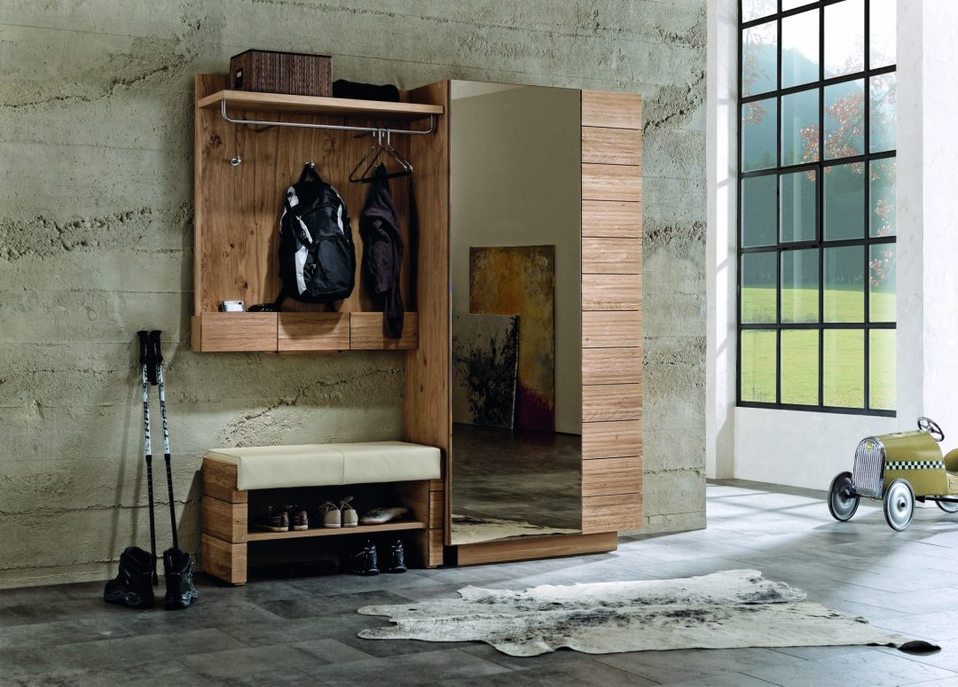 vorzimmer v montana von voglauer in wildeiche vollholz. Black Bedroom Furniture Sets. Home Design Ideas