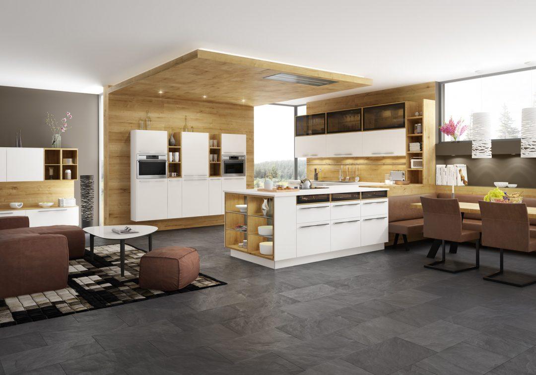 die möbelpolt küche: Eiche und weiß - Möbel Polt Möbelhaus