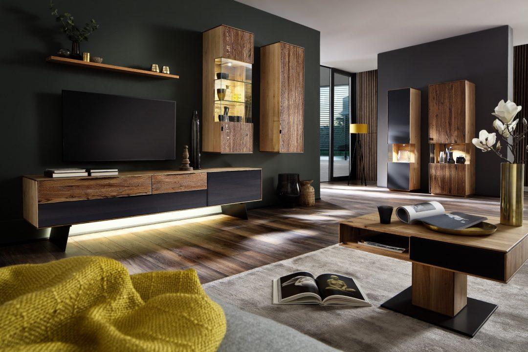 Wohngestaltung MEDO In Wildeiche Massiv Geölt, Fronten